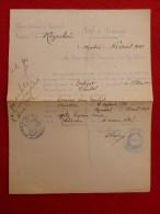 REZENTIERES SAINT FLOUR MARIAGE TERRISSE & GELY 1921 Voir Manuscrit Verso - Documents Historiques