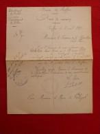 ROFFIAC SAINT FLOUR MARIAGE ESCHALIER  & POUDEROUX 1921 Voir Manuscrit Verso - Documents Historiques