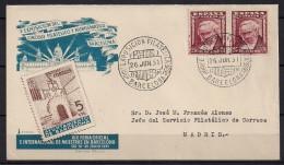 1951, SOBRE CONMEMORATIVO, EXPOSICIÓN  CIRCULO FILATELICO Y NUMISMATICO DE BARCELONA - 1951-60 Briefe U. Dokumente