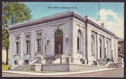POST OFFICE, NASHUA, New Hampshire (1930's). Unused Mint Postcard - Nashua