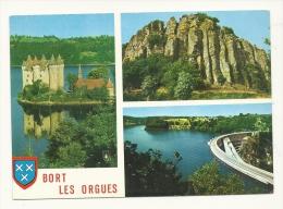 Cp, 19, Bort-les-Orgues, Multi-Vues, Voyagée 1977 - Autres Communes