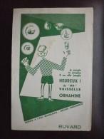 Buvard ORNAMINE VAISSELLE ASSIETTES ENFANT. Humoristique. Années 50 - Kids