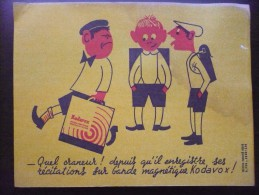 Buvard KODAK Bandes Magnétiques KODAVOX. ENFANT. Ecoliers. Humoristique. Années 50 - Buvards, Protège-cahiers Illustrés
