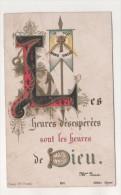 IMAGE PIEUSE ANCIENNE - LES HEURES DESESPEREES SONT LES HEURES DE DIEU MME BARAT - ED BONAMY POITIERS - A VOIR - Images Religieuses