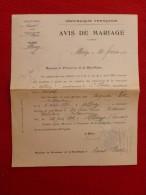 ALLEUZE St FLOUR MARIAGE ROC & PORTEFAIX 1922 Voir Manuscrit Verso - Documents Historiques