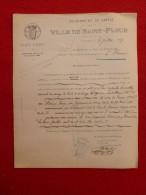 SAINT FLOUR MARIAGE DISSOUS DEGRACE & CASTELLAN 1917 Voir Manuscrit Verso - Documents Historiques