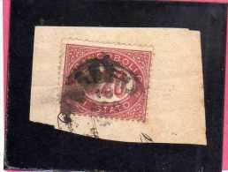 ITALIA REGNO ITALY KINGDOM 1875 SERVIZIO FRANCOBOLLO DI STATO SERVICE CENT. 20 (0,20) USATO USED - 1861-78 Vittorio Emanuele II