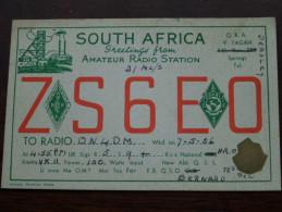ZS6EO South AFRICA Amateur Radio Station Bernard Anno 1948 ( Zie Foto Voor Details ) !! - Radio Amateur