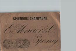 Étiquette SPLENDIDE CHAMPAGNE Mercier Epernay - Scans Recto Et Verso - Champagne