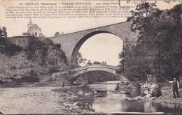 Cp , 89 , VÉZELAY , Environs , PIERRE-PERTHUIS , Les Deux Ponts - Vezelay