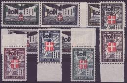 Egeo - 1932 - Sass. S. 12 - Ventennale dell'occupazione - 10v. ** BDF