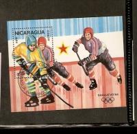 NICARAGUA AEREO 1984 - Hockey (su Ghiaccio)