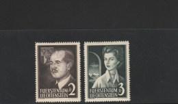 LIECHTENSTEIN - YVERT N° 294/295 * CHARNIERE LEGERE - COTE = 130 EUROS - - Liechtenstein