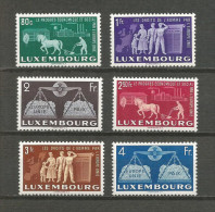 1951 - Yvert n� 443 � 448 - ** (MNH) - EUROPE UNIE