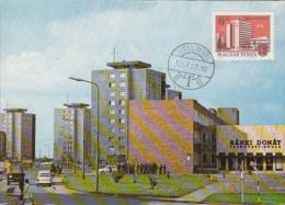DUNAUJVAROS- STREET VIEW, CAR, CM, MAXICARD, CARTES MAXIMUM, 1995, HUNGARY - Maximumkarten (MC)