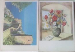 Lotto N°2 Cartoline Di Pittori Dipingenti Con La Bocca O Col Piede A.E.Stegmann - Artistes