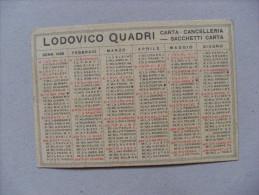 Calendario/calendarietto 1948 Lodovico Quadri - Carta; Cancelleria; Sacchetti Di Carta. BERGAMO - Calendari