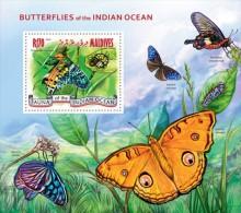 Maldives. 2014 Butterflies. (302b) - Schmetterlinge
