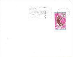 YT 1547 SSL AU TARIF FRANCE OBL. FL HAUTS DE SEINE ASNIERES  CHANZY 8/2/68 - Skisport