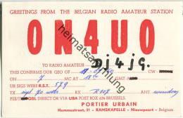 QSL - QTH - Funkkarte - ON4UO - Belgique - Belgie - Ramskapelle  - 1960 - Radio Amateur