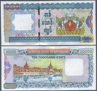 MYANMAR, BURMA, 10,000 KYATS, 2012, P 82, UNC  ! - Myanmar