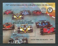 MAURITANIE 1981 BLOC N° 33 ** Neuf  = MNH  Superbe  Cote 8 € Sports Automobile Prix France Formule 1 Cars - Mauritanie (1960-...)