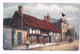 22027 ( 2 Scans ) Illustrator - Old Houses Sheep Street Stratford On Avon - Stratford Upon Avon