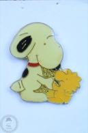 Snoopy & His Bird Woodstock  - Pin Badge #PLS - Cómics