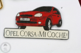 Spanish Advertising Opel Corsa Mi Coche -  Pin Badge #PLS - Opel