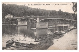 CP, 94, LA VARENNE St-HILAIRE, Le Pont De Chennevières, Voyagé En 1917, Ed : C.M - France