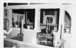 CANADA-RESTAURANT BISON-MONTAGUE Carte Photo- Beau Pland'intérieur-années 40-50 - Alberta