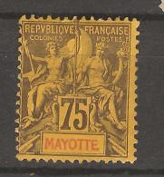 Mayotte _75c Groupe _ 1892