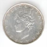 ITALIA 500 LIRE 1988 COSTITUZIONE DELLA REPUBBLICA ITALIANA AG SILVER - Commemorative