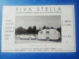 2 Publicités Anciennes - Voir Automobile à Identifier - Caravane - Camping - Riva Bella - Sterckeman à Seclin - Cars