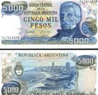 Argentina #305b, 5.000 Pesos, ND (1977-83), UNC / NEUF - Argentinien