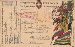 FRANCHIGIA POSTA MILITARE 90 1918 EDOLO X BOLOGNA - Military Mail (PM)