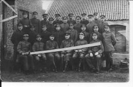 Flandres Flandern Groupe D'officiers Allemands Devant Une Habitation 1 Carte Photo 1914-1918 14-18 Ww1 WwI Wk - War, Military