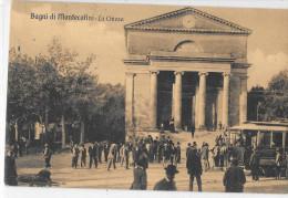 TOSCANA-PISTOIA-MONTECATI NI BAGNI PIAZZA UMBERTO CHIESA TRAM ANIMATA ( VIAGG.1908) - Italia