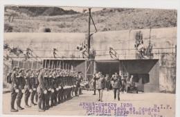 1938 Général COLSON Chef D'état Major Inspectant Un Ouvrage Fortifié - Militari