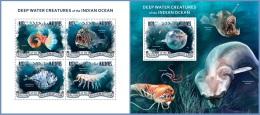 mld14304ab Maldives 2014 Deep water creatures Fish 2 s/s
