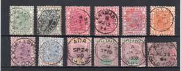 COTE D'OR : 1884/1902 . 12 EX OBL DIVERSES . - Goldküste (...-1957)