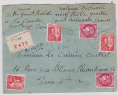 Lot 107 //  Enveloppe Recommandée Valeur Déclarée //  De Croze  //  Pour Paris //  30 / 5 / 1940 - Postmark Collection (Covers)