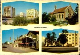 N°281 LL  CORBEIL ESSONNES CARTE MULTIVUES CARTE GRAND FORMAT - Corbeil Essonnes