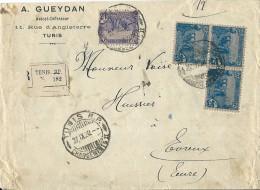 Lettre  Recommandée Pour La France 1920 - Lettres & Documents