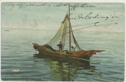 MESTIERI -PESCA BARCA CON PESCATORI -SPEDITA 1905 DA GENOVA PER SPOTORNO - Pesca