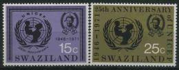 1972 Swaziland, Anniversario UNICEF, Serie Completa Nuova (**) - Swaziland (1968-...)
