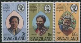1974 Swaziland, Anniversario Nascita Re Sobhuza , Serie Completa Nuova (**) - Swaziland (1968-...)