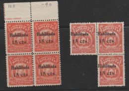 O) 1897 BOLIVIA, COAT OF ARMS, 15 CENTAVOS HABILITADA, MNH - Bolivia