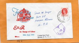 Australia 1965 FDC Mailed To USA Postage Due - Ersttagsbelege (FDC)