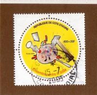 REP. DE COTE-D'IVOIRE  --  ENSEMBLE  CONTRE  LE  SIDA  --  **  400  +  20 F.  ** --POSTE  2003  -- - Ivory Coast (1960-...)